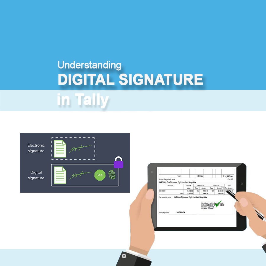 digital signature in tally prime
